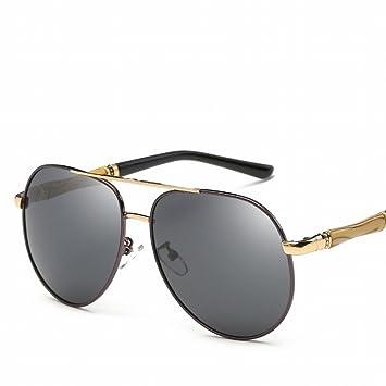 Polarisierter Farbfilm Polarisierte Sonnenbrille Trend Sonnenbrille Piloten Polarisierte Jurte , Schwarzer Rahmen Ganz Grau