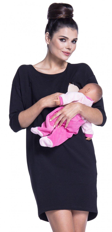 Zeta Ville - Vestito felpa allattamento prémaman abito manica 3/4 - donna - 038c nursing_dress_038