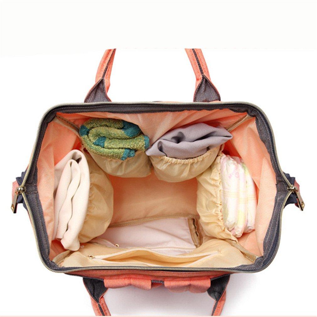 Bolso del pañal del bebé Bolso de la mamá de la mochila del unicornio de la mamá para las bolsas cambiantes del panal de la mamá de la mamá black: ...