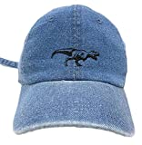TheMonsta T-rex Outline Style Dad Hat Washed Cotton Polo Baseball Cap (Lt.Denim)