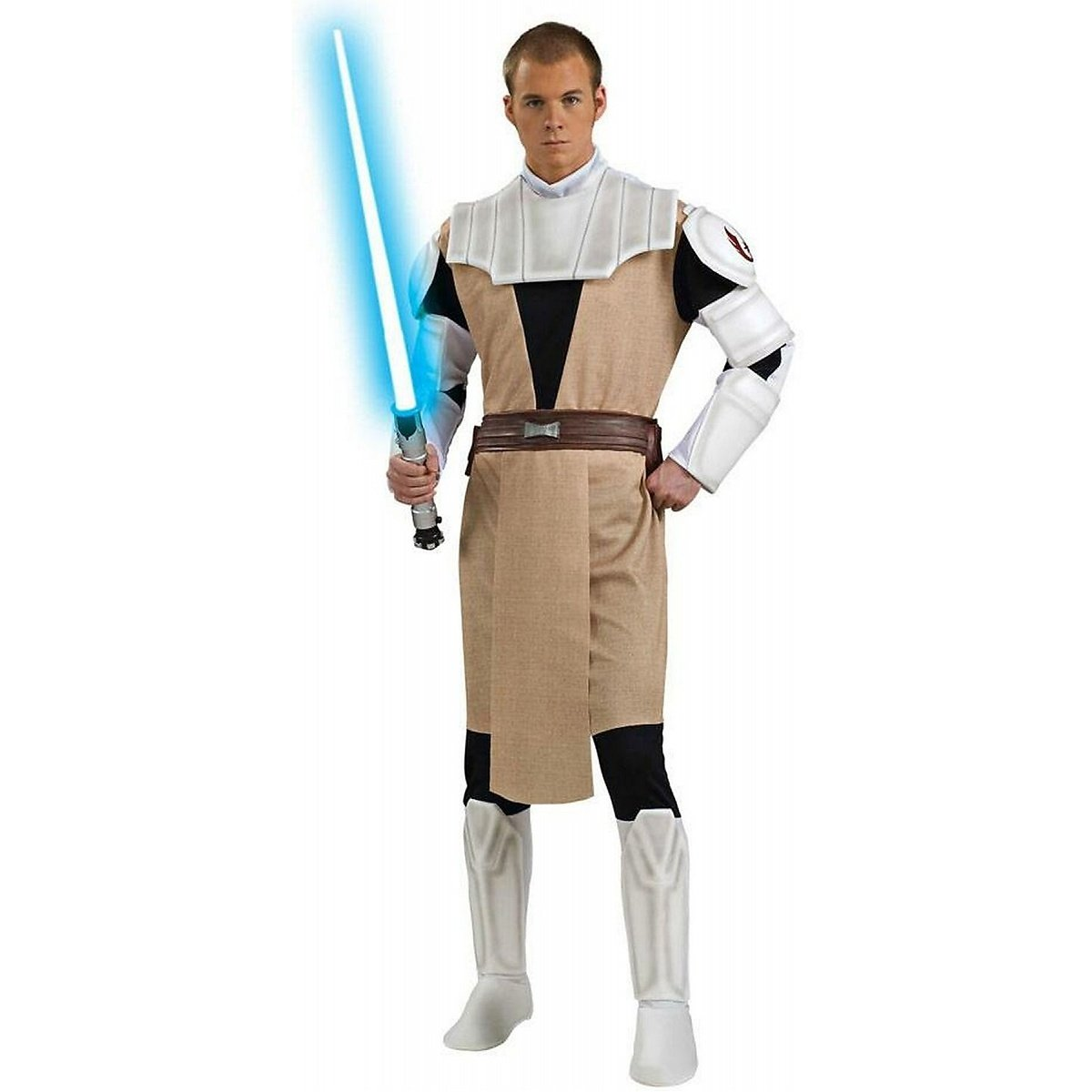 Obi-Wan Kenobi Deluxe Herrenkostüm aus Star Wars, Größe:L