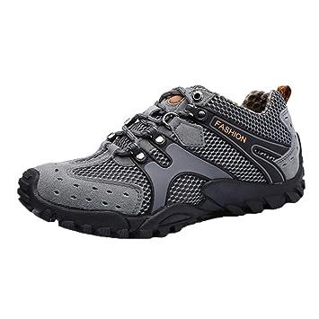shoes Zapatos para Caminar al Aire Libre de Primavera y Verano de los Hombres,Resbalón Respirable Zapatos Deportivos de Malla,Zapatillas de Bicicleta de ...
