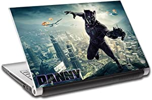 Black Panther Super Hero Personalized LAPTOP Skin Cover Decal Sticker L774, 15.6""