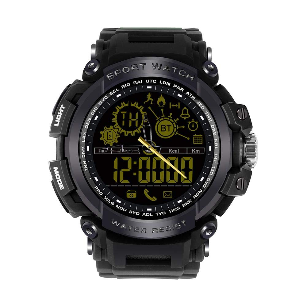 Alloet DX16 BT4.0 Outdoor Sports Smart Watch 50ATM Waterproof Wristwatch (Black)