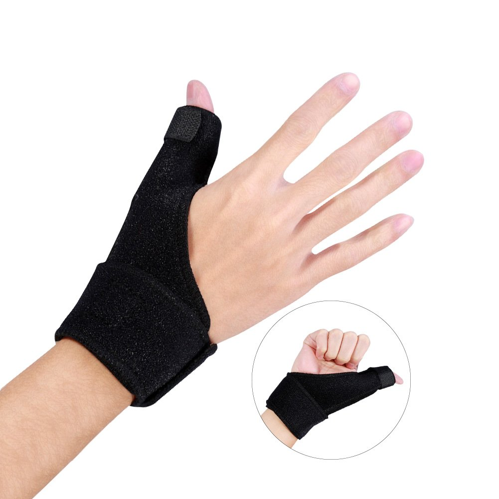 Finger Splint Wrist Brace, Adjustable Aluminium Finger Splint Hand Support Recovery Brace Protection Injury Aid Tools
