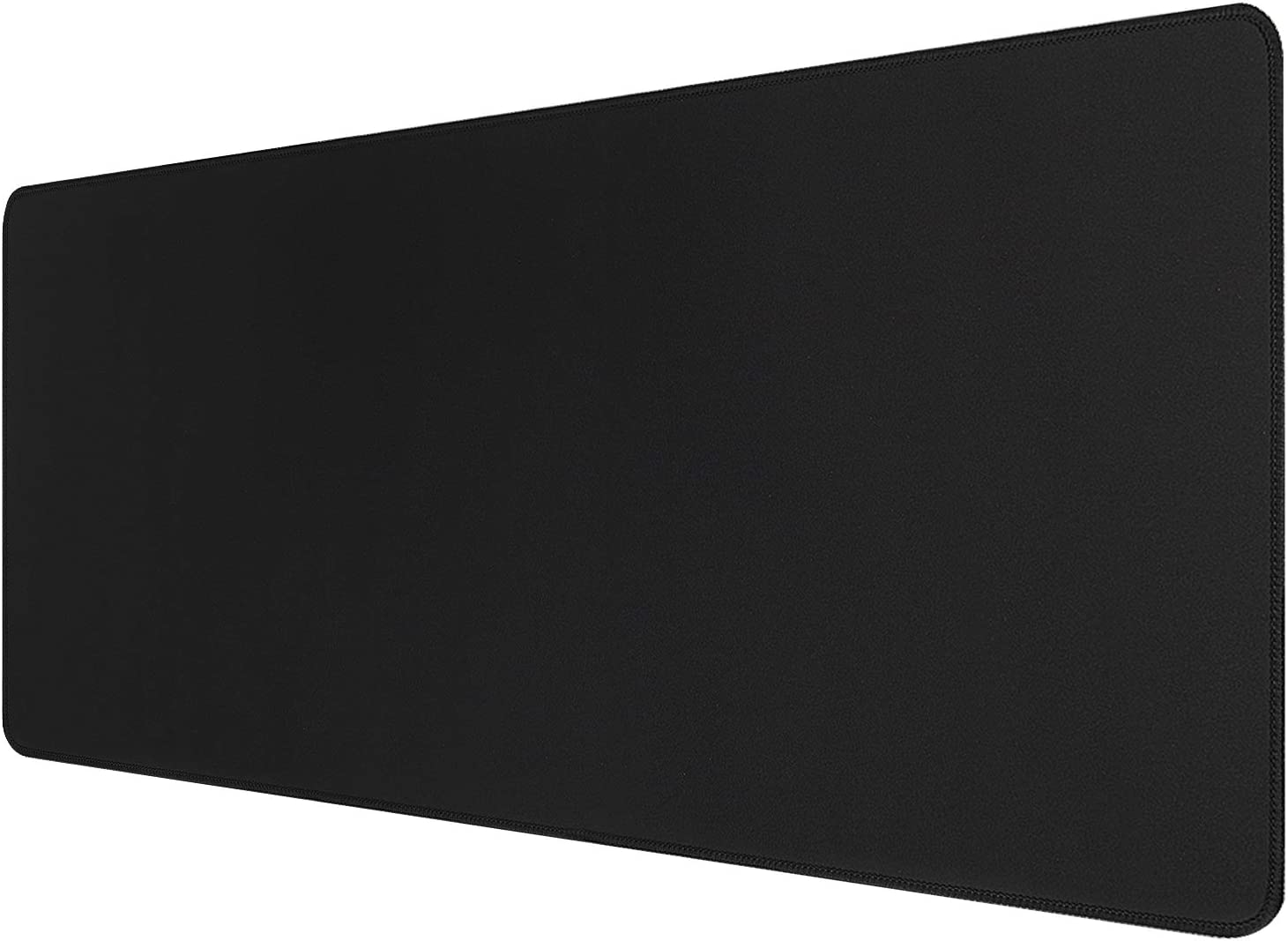 Extended Gaming Mouse Pad with Stitched Edges, Large Mousepad with Premium-Non-Slip Rubber Base, Waterproof Keyboard Pad Textured Cloth Mouse Mat for Gamer, Office & Home, 31.5x11.8 in, Black