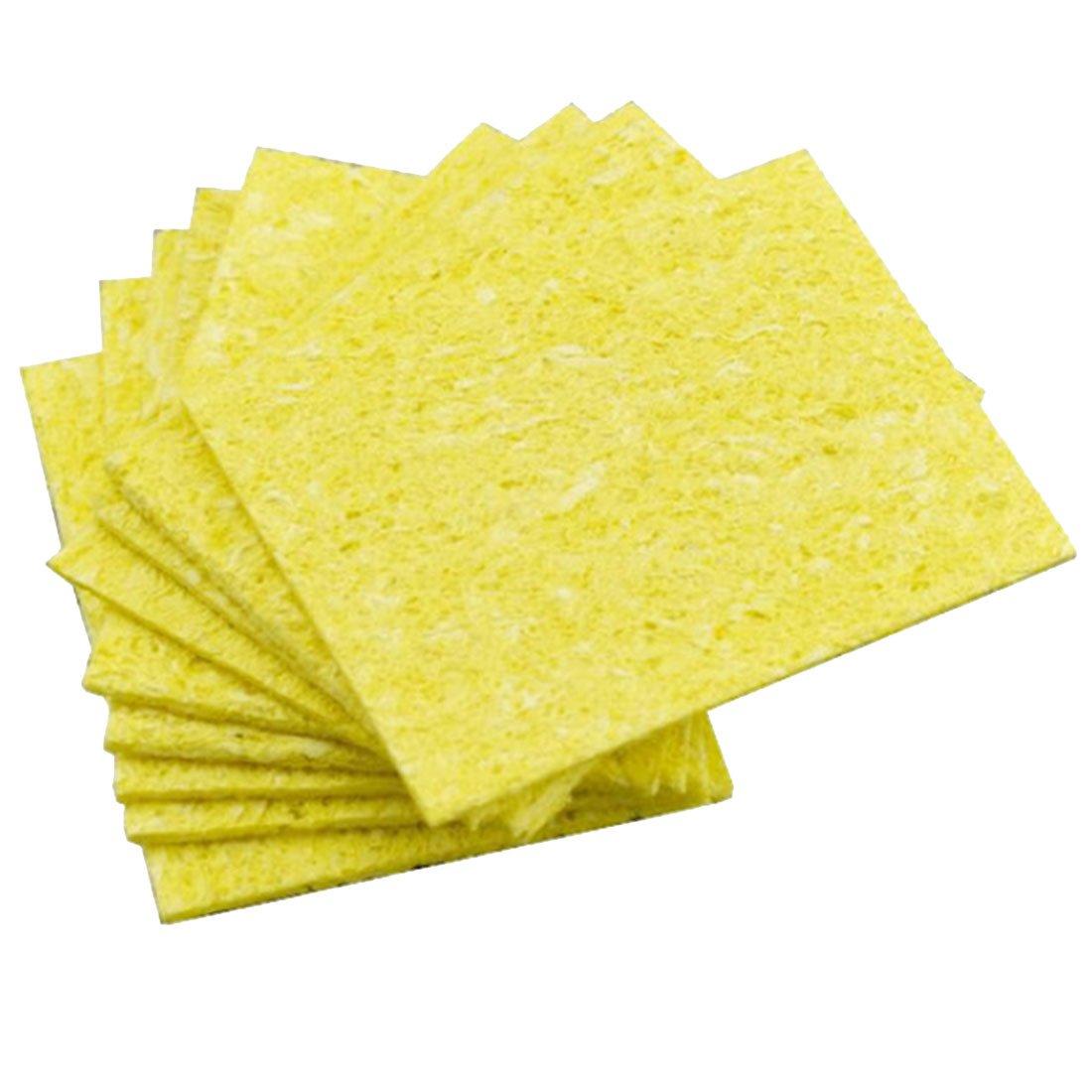 10pcs fer à souder éponges tampons à souder pointe de fer nettoyant éponge de nettoyage 5x3.5cm 91ai-store