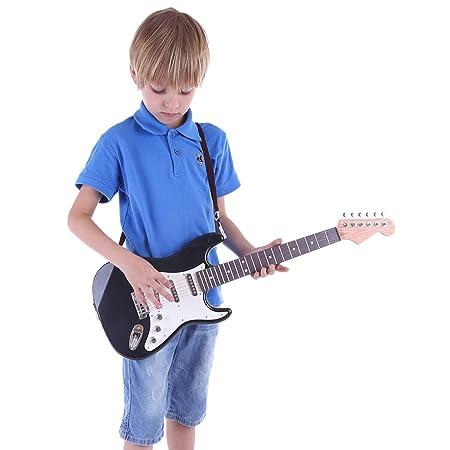 MRKE Guitarra Electrica Niños 67cm 6 Cuerdas Rock Juguete de Instrumentos Musicales Guitarra Regalo para Infantil Niño y Niña 3-8 Años: Amazon.es: Juguetes ...
