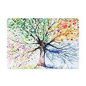 iDonzon MacBook Air 13 inch Case, Hand Painted Watercolors Hard Protective Case Cover for MacBook Air 13.3 inch (Model: A1369 & A1466) - Four Seasons Tree