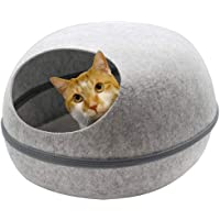 Paws & Claws 48x38cm Pets/Kitten/Cat Cave Bed w/Washable Cushion Large Grey
