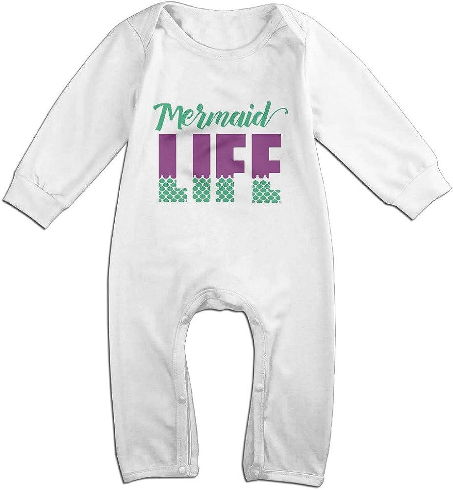 Mermaid for Life Baby Boys Girls Jumpsuit Short-Sleeve Romper Bodysuit