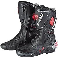 NEW Men's Motorcycle Racing Boots Black