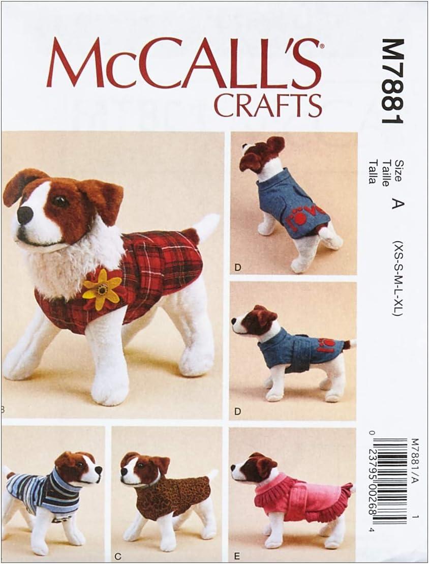 McCall Pattern X XS-S-M-L-XL.