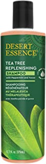 product image for Desert Essence Tea Tree Replenishing Shampoo - 12.9 Fl Oz - Therapeutic - Peppermint & Yucca - Antibacterial - Restore & Nurture Hair - Reduce Flaking - All Skin Types