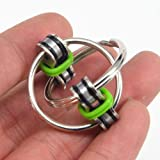 Transer Stress Reliever Toys- Chain Fidget Toy Hand Spinner Key Ring Sensory Toys Stress Relieve ADHD Top ZZY (Green)