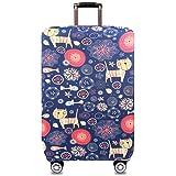 SHIWU スーツケースカバー 伸縮素材 旅行 出張 荷物 トランク カバー 耐久性 防塵 防水 盗難 雨 汚れ 傷 防止