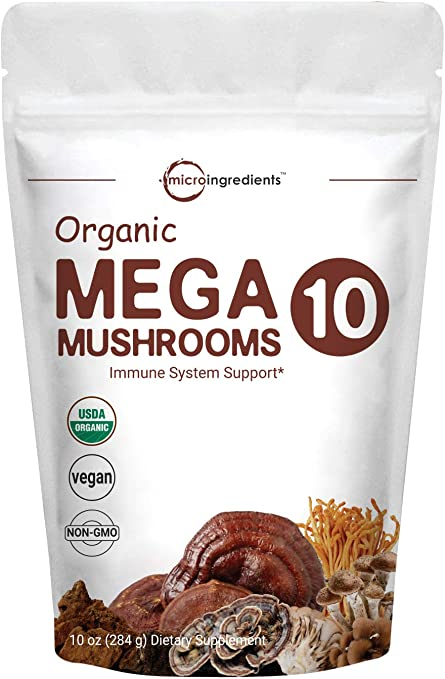 Micro Ingredients Organic Mega 10 Mushroom Complex Powder