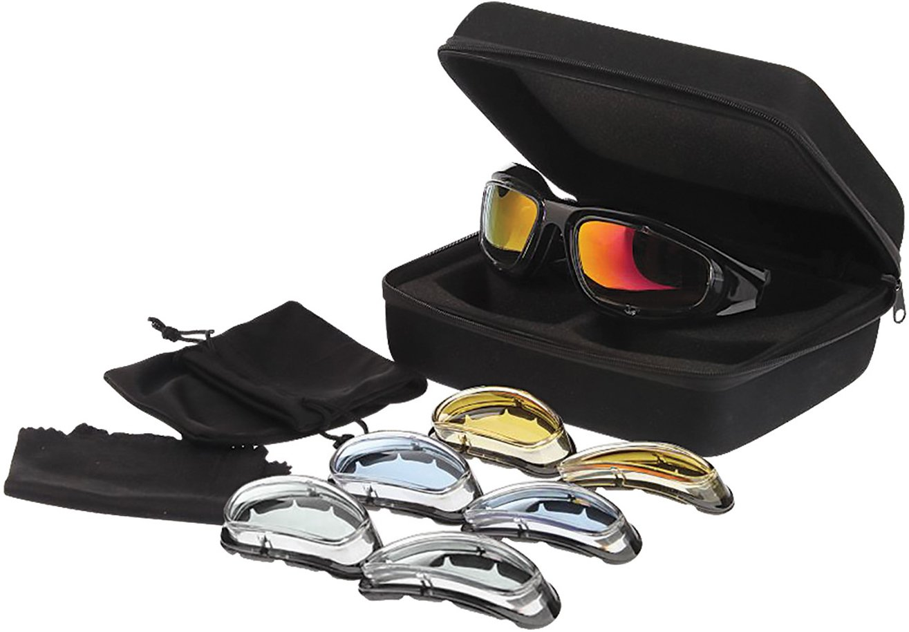 Raider 26-006 Premium Glasses Kit with Four Interchangeable Lenses