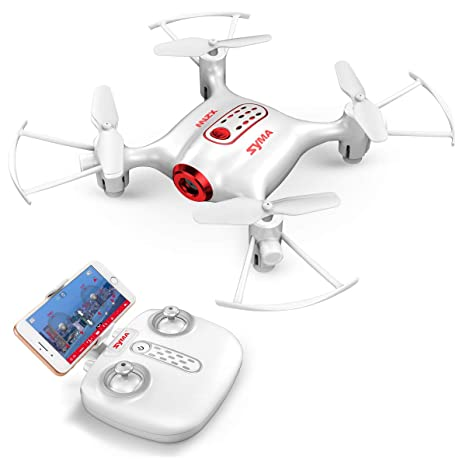 Syma X21W - Mini dron con cámara Live Video LED, pilotaje con ...