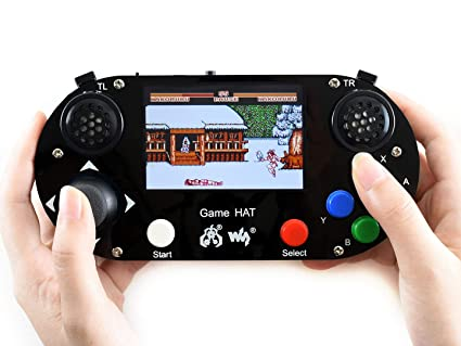 Waveshare Game HAT for Raspberry Pi A+/B+/2B/3B/3B+ 3 5inch IPS Screen  480x320 Resolution 60 Frame Experience Make Your Own Game Console