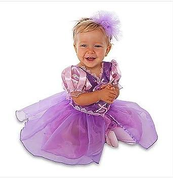 212ea7bf6 Amazon.com: Disney Store Tangled Princess Rapunzel Costume Size 3-6 Months:  Dress w/Headband: Clothing