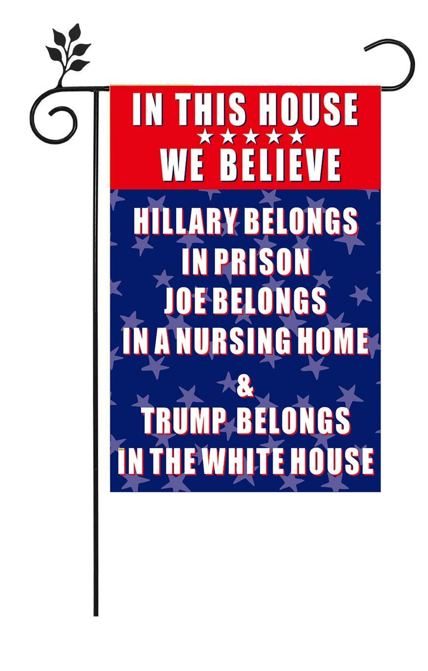 Pro Trump Republican Small Funny Outdoor Garden Flags 12X18 inches Double-Sided Flag for Lawn and Yard