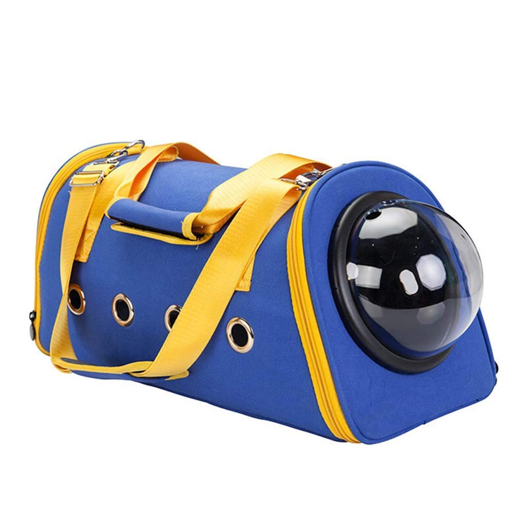 bluee Xinnegen Portable Pet Supplies Cat Backpack Car Cat Bag Pet Backpack Small Cat Dog Pet Travel Out Portable Safe Three-dimensional Breathable (color   bluee)