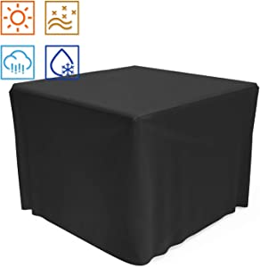 SHINESTAR 32 inch Square Fire Pit Cover, Heavy Duty Fabric with PVC Coating, Rainproof and Windproof, Fits for 28/30 / 31/32 Inch Fire Pit/Table, All-Season Protection