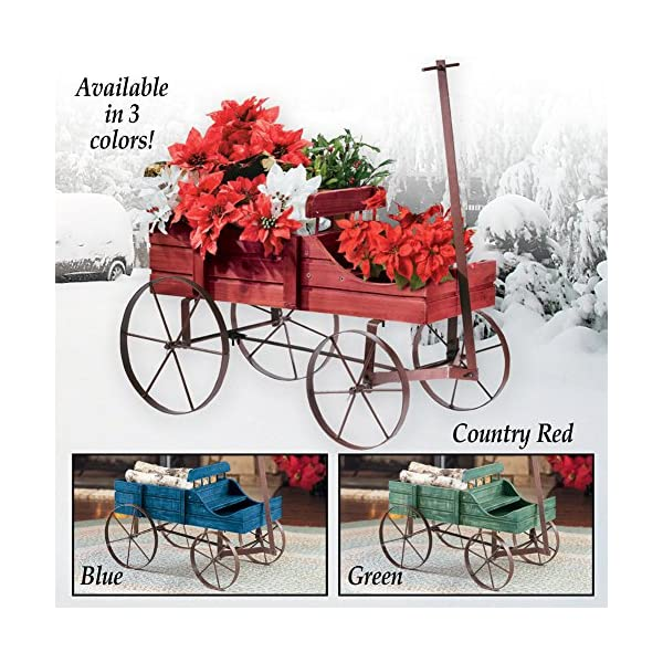 Amish-Wagon-Decorative-Indoor-Outdoor-Garden-Backyard-Planter