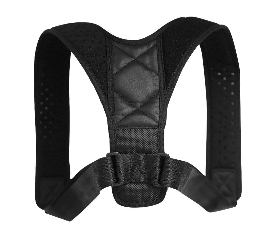 DEBAIJIA Posture Corrector Adjustable Upper Back Support Clavicle Shoulder Brace Slouching Corrective for Men Women, Thick Cushioned Straps, Neck shoulder Thoracic Pain Relief