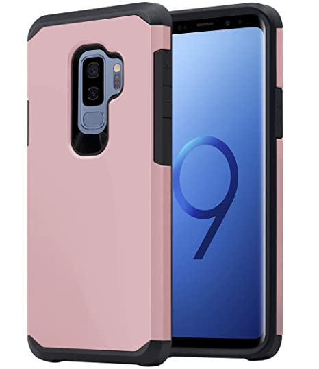 detailed look a508b cf2c4 Galaxy S9 Plus Case for Women Girls, OEAGO Shockproof Heavy Duty Protection  Dual Layer Armor Case Cover for Samsung Galaxy S 9 Plus S9+ (2018) (Rose ...
