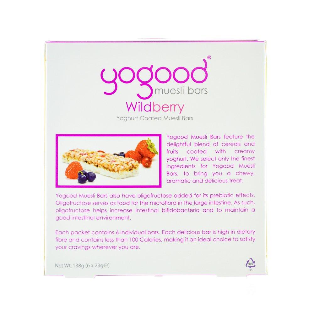 Yogood Wildberry Yoghurt Muesli Barras/mezcla de cereales y ...
