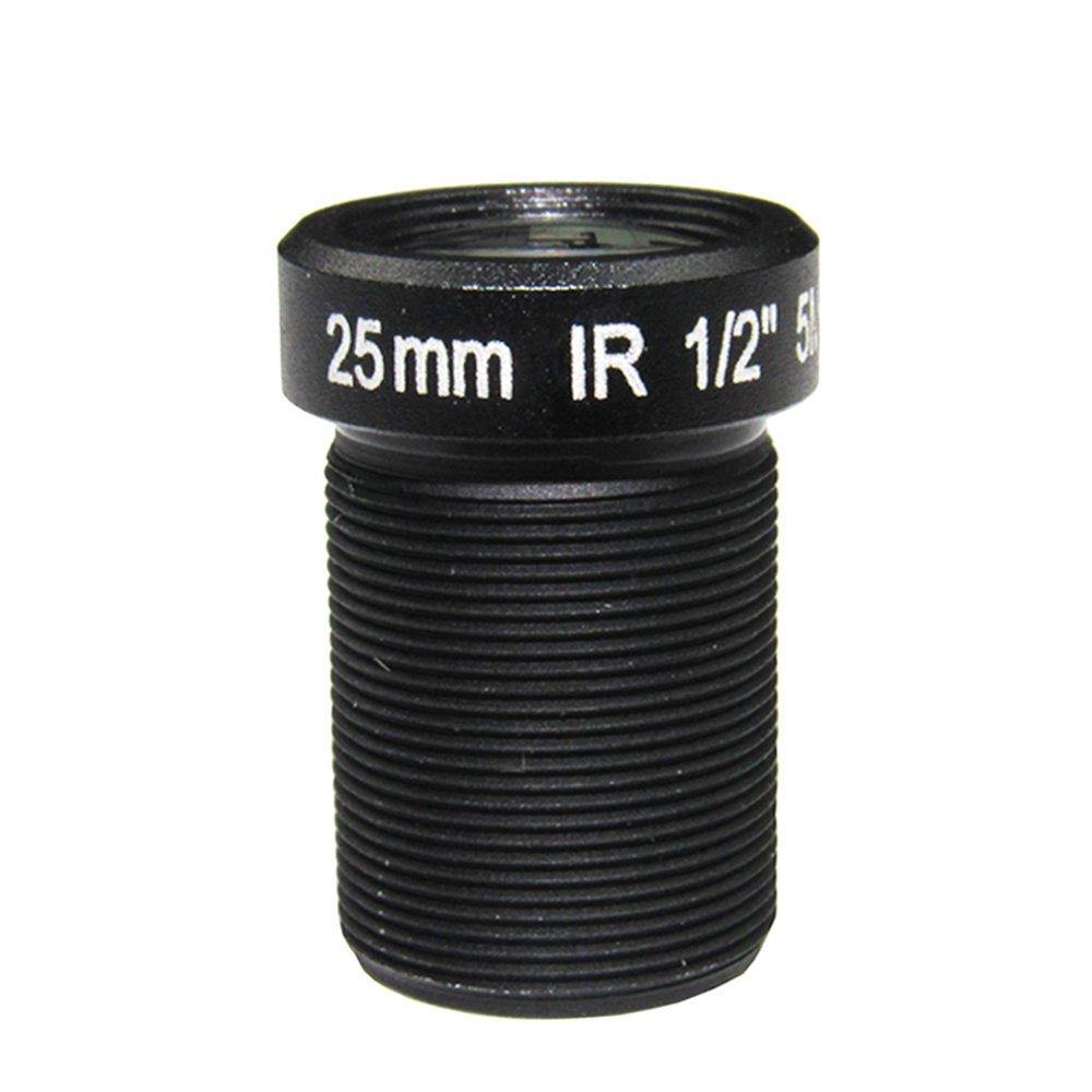 HD 5.0Megapixel 25mm IR CCTV Lens 1/2'' For HD IP AHD CCTV Camera Lens F2.4 M12 Mount Fixed Iris Long Viewing Distance Upto 50m by GYXTECH