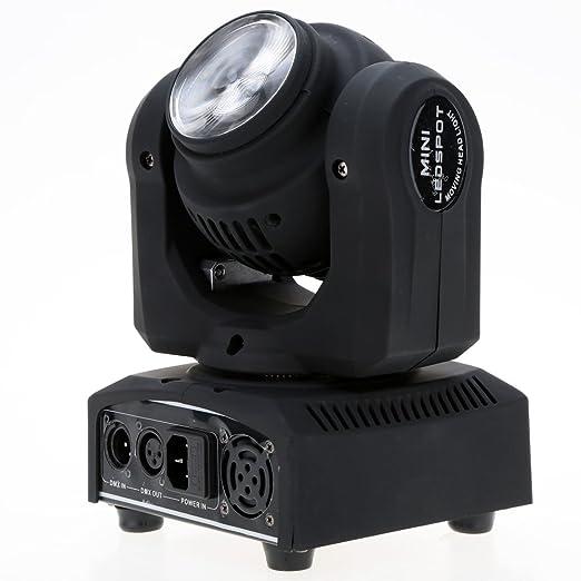 23 opinioni per Lixada 2LED 20W RGBW 15 / 21 Canali DMX 512 Doppia Faccia Trave Infinito Rotante