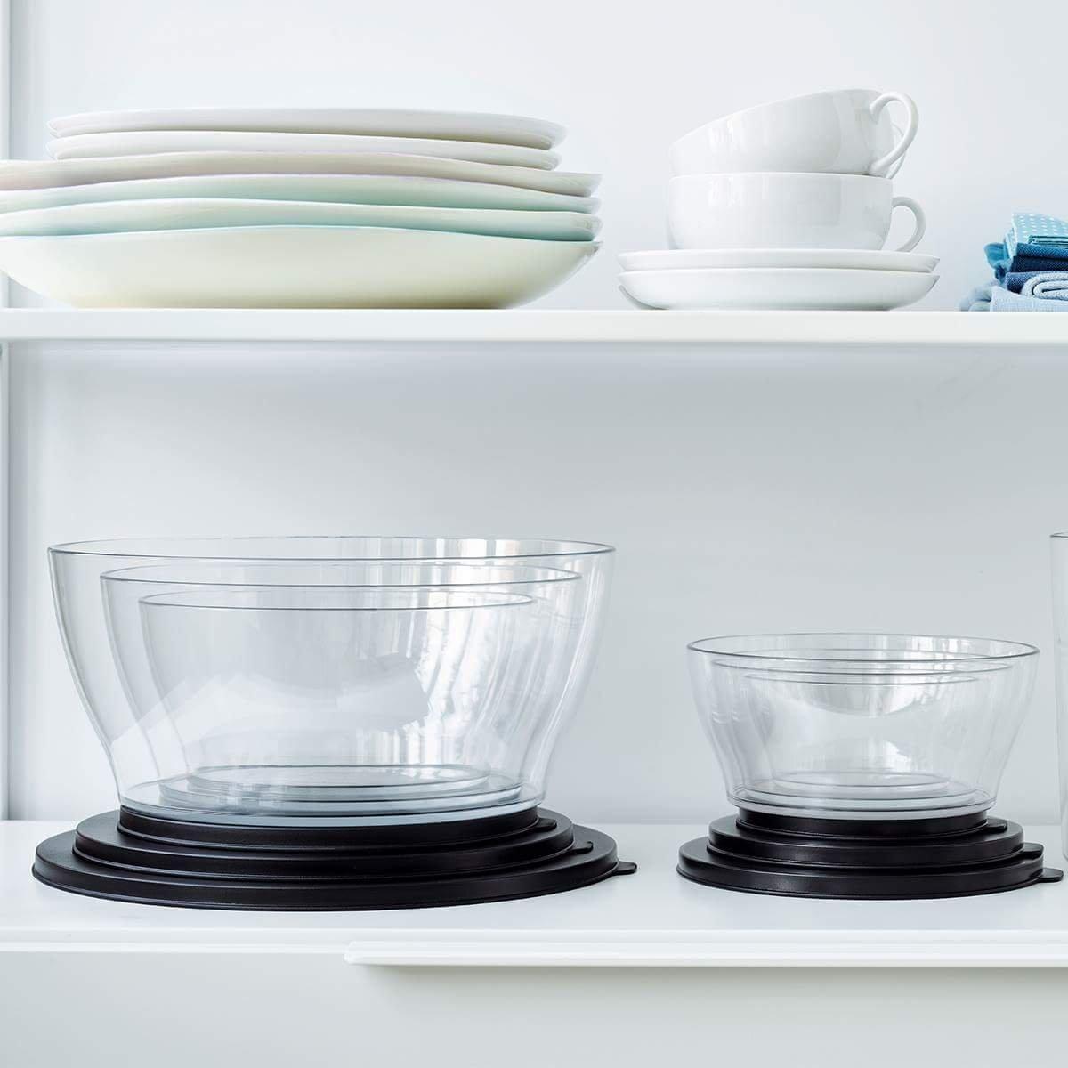 Tupperware Clear Bowls 5 pcs set