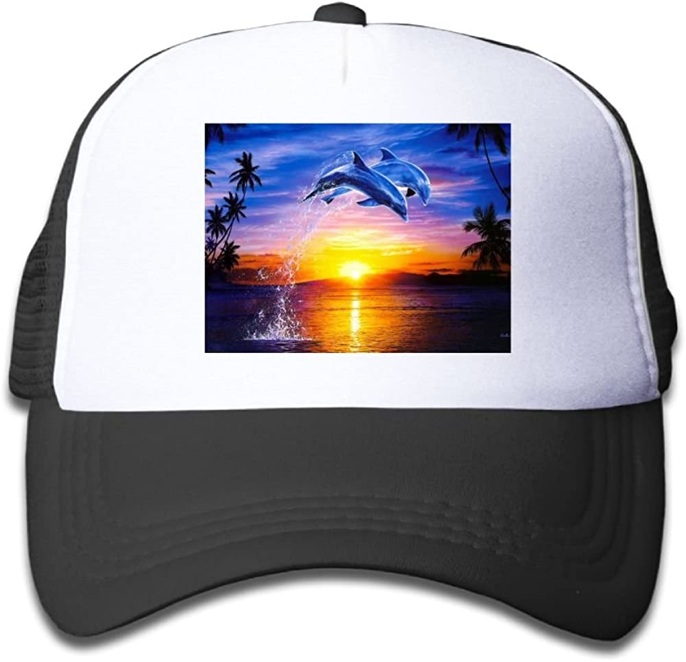 Usieis Kid Cap Dolphin Jumping Mesh Cap Dad Cap Baseball Hat Adjustable Trucker Cap for Boys/&Girls