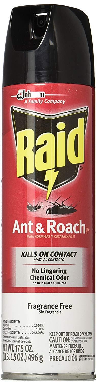 Raid Ant and Roach Killer, Fragrance Free, 17.5 OZ (Pack - 3)