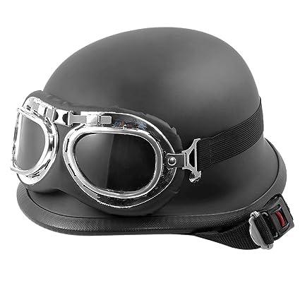Amazon.es: KKmoon Casco para Motocicleta Motocross con Gafas ...