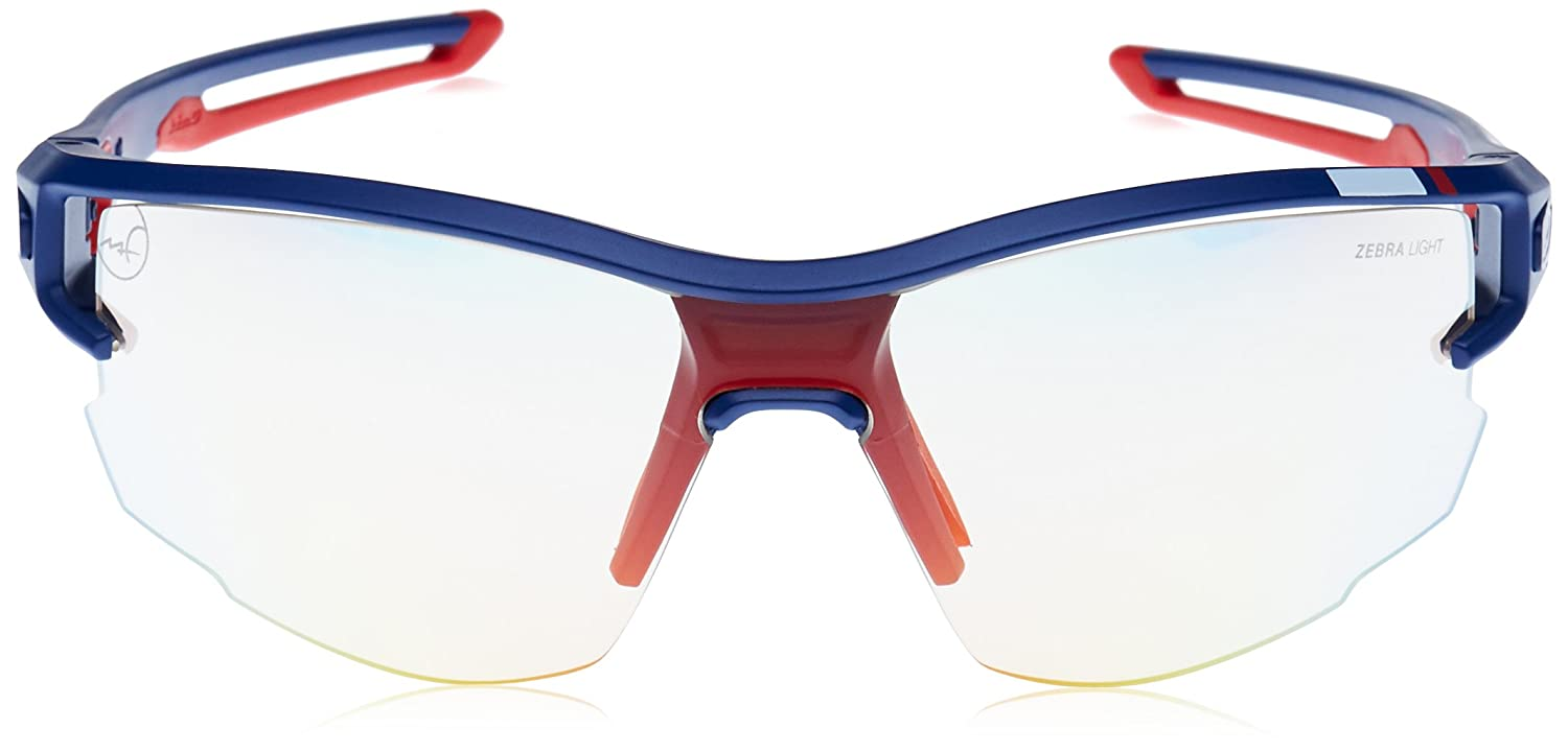 75c89576b5 Julbo Aero Martin Fourcade Photochromic Sunglasses Man, Pro Model Blue/Red  MF: Amazon.co.uk: Sports & Outdoors
