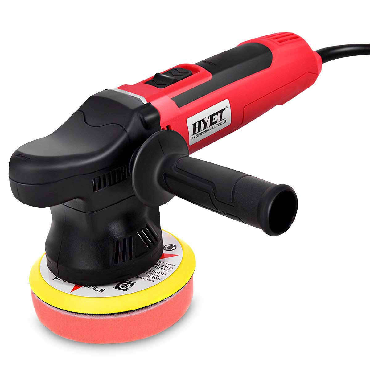 Goplus Random Orbital Sander Variable Speed Polisher Electrical Dual-Action Polisher Grinder Buffer 5 inch
