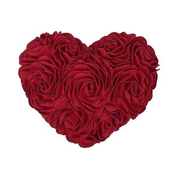 Amazon.com: JWH - Cojín decorativo con forma de corazón ...
