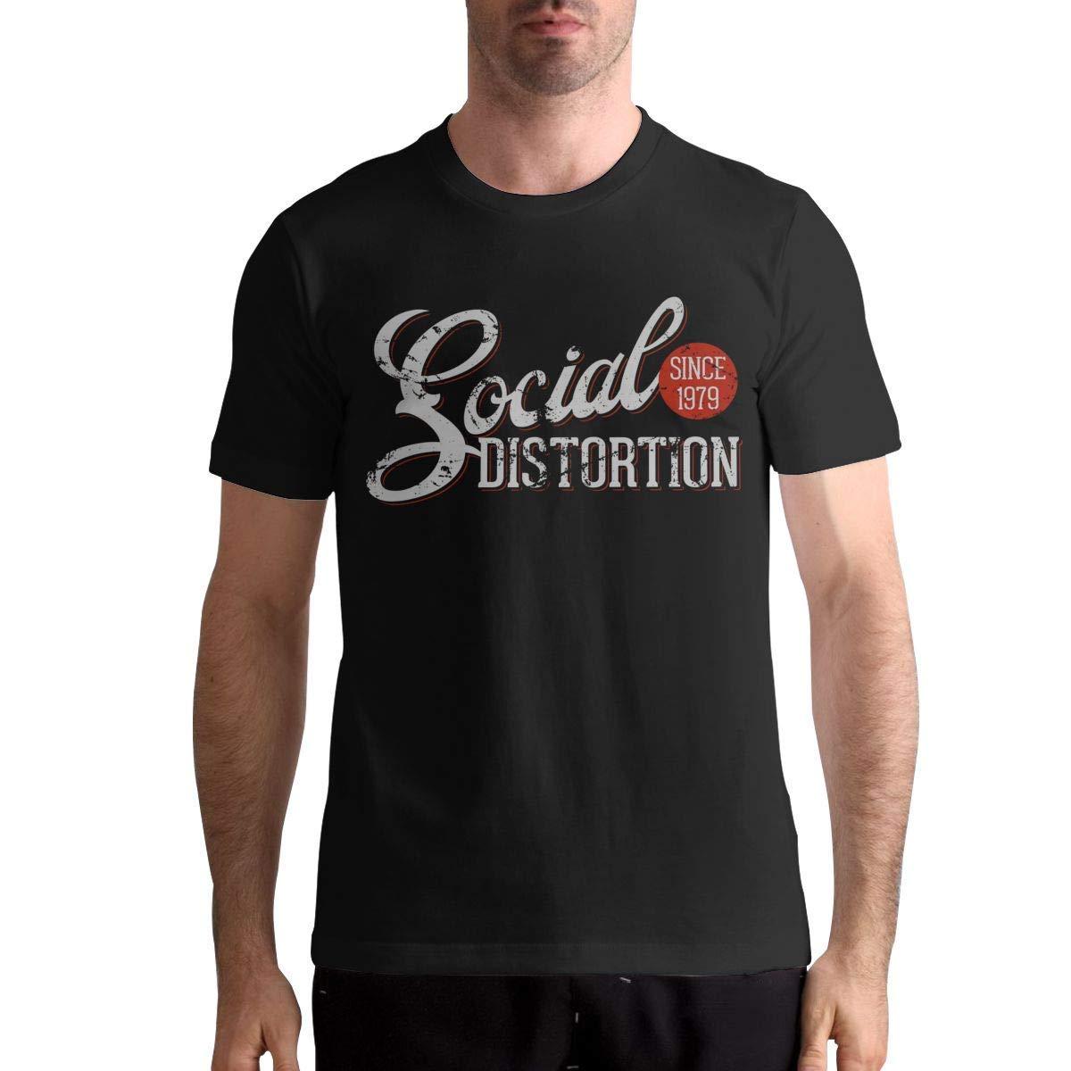 Social Distortion T Shirt S T Shirt Fashion Sports Tops Round Neck Short Sleeve Tee