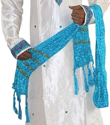 Gold Shawl Men Dupatta Scarf Indian traditional  Kurta sherwani stole Ethnic New