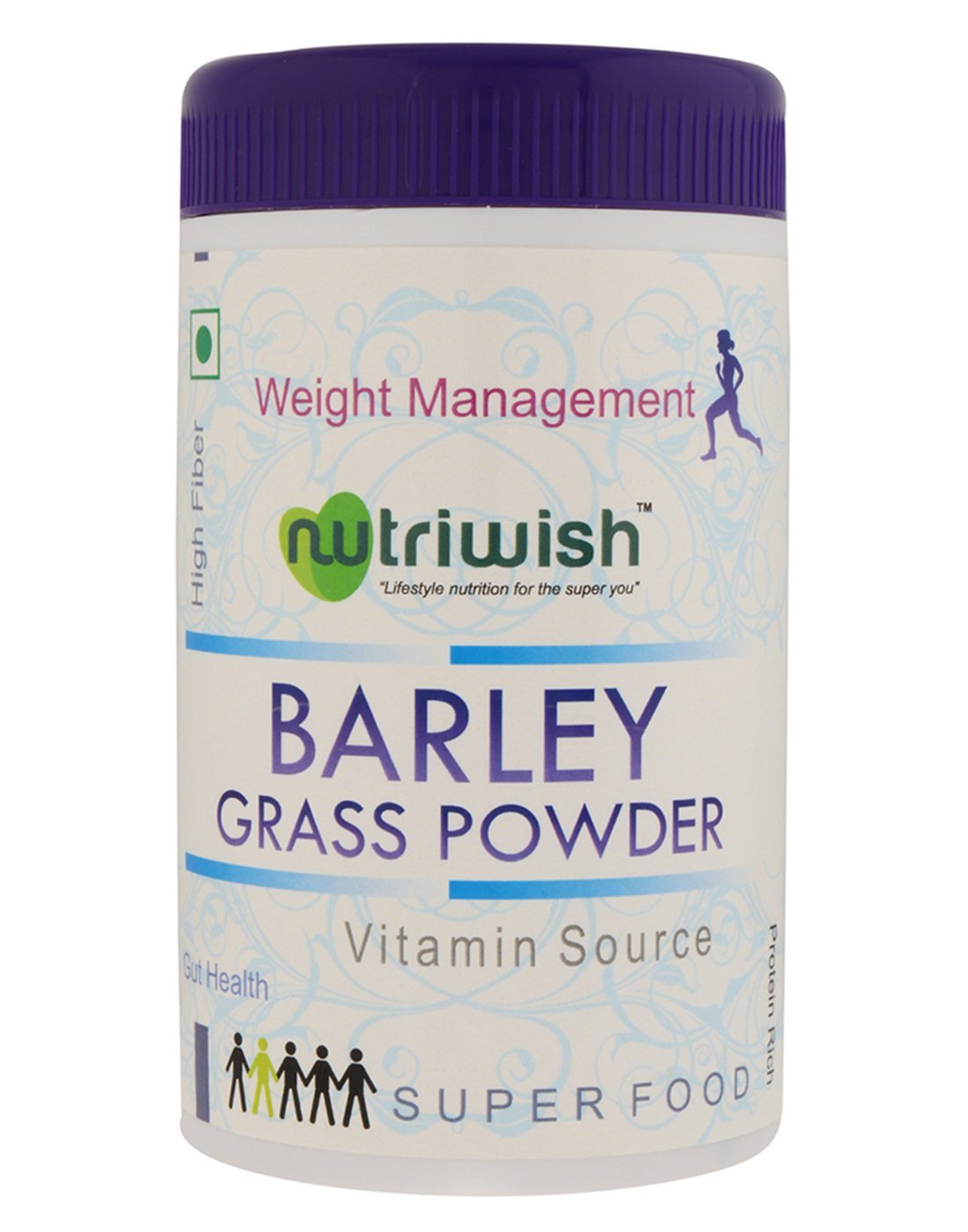 Nutriwish Barley Grass Powder 100 gms (Reusable Packaging With Scoop) , Powerful Organic Superfood