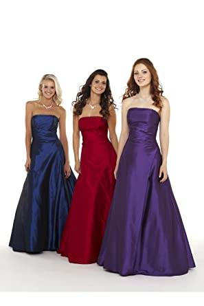 Tiffanys Serenade Amy strapless Prom Dress Purple UK 28 (US 24)