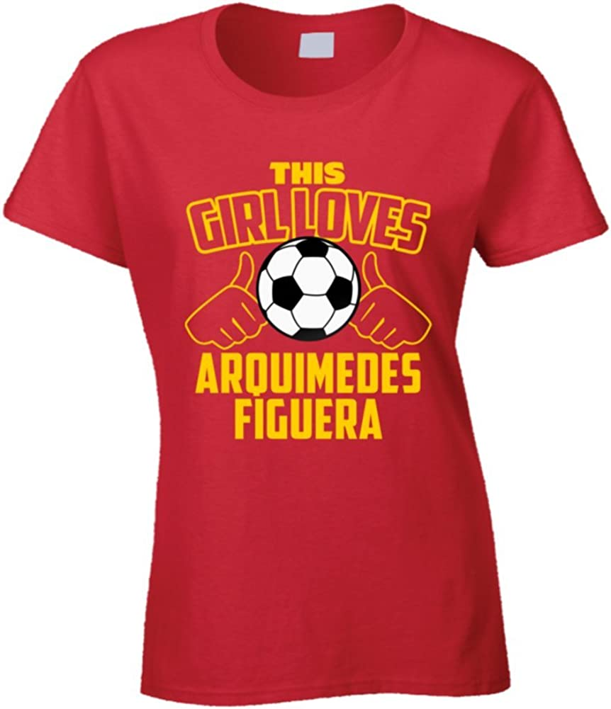 This Girl Loves Arquimedes Figuera Venezuela fútbol Futbol Copa T Shirt: Amazon.es: Ropa y accesorios