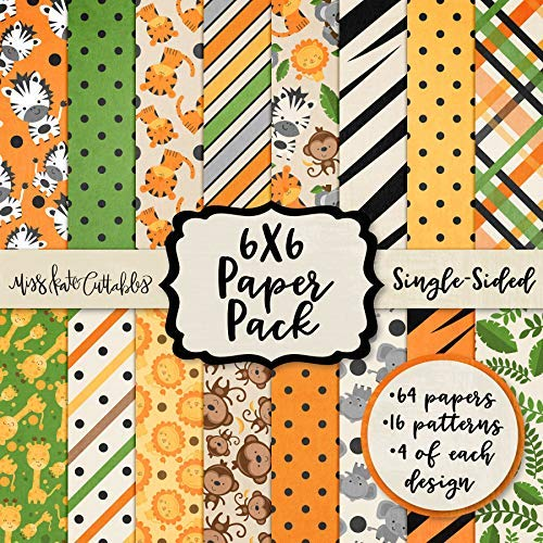 (6X6 Pattern Paper Pack - Zoo Fun - Card Making Scrapbook Specialty Paper Single-Sided 6