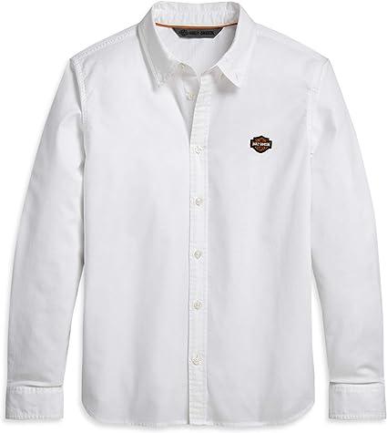 HARLEY-DAVIDSON Camisa Oxford con Logotipo Bordado para Hombre: Amazon.es: Ropa y accesorios