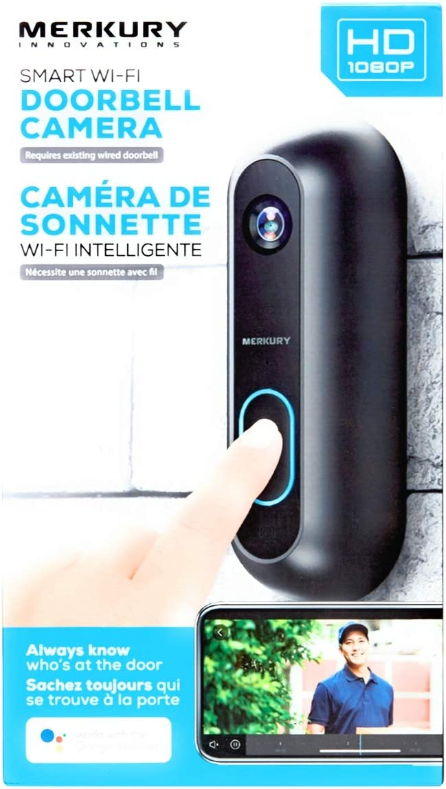 merkury innovations smart wifi doorbell camera