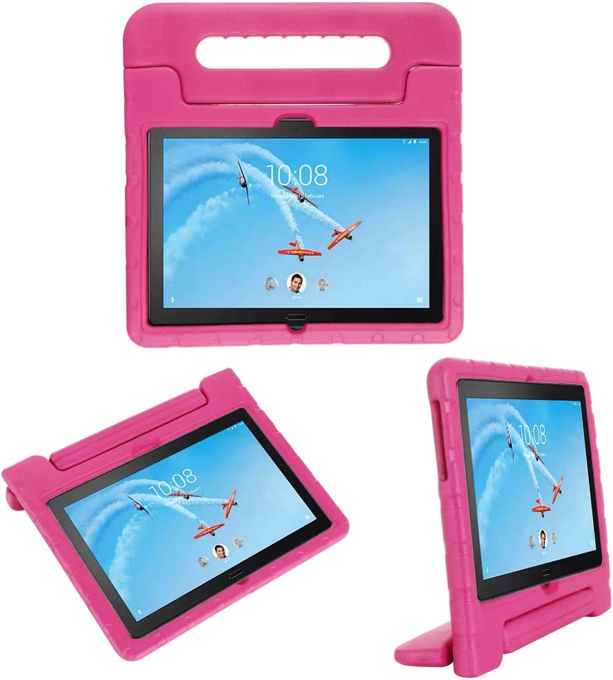 i-original Compatible with Lenovo Tab P10(TB-X705F)/Tab M10(TB-X605F) 10.1 Inch 2019 Case,Shockproof EVA Case for Kids Bumper Cover Handle Stand, Lightweight Protective Cover (Magenta)